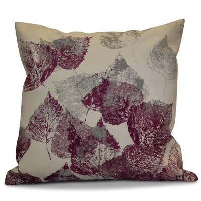 Miller Memories Floral Outdoor Throw Pillow Size: 16 H x 16 W x 2 D, Color: Purple