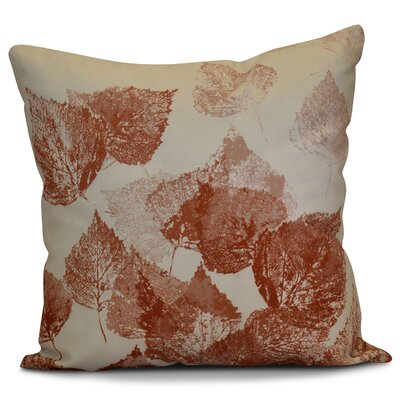 Miller Memories Floral Outdoor Throw Pillow Size: 18 H x 18 W x 2 D, Color: Rust