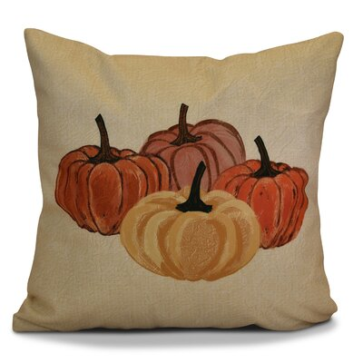 Miller Paper Mache Pumpkins Geometric Euro Pillow