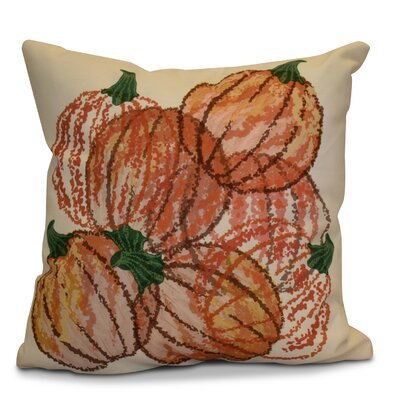 Miller Pumpkin Pie Geometric Throw Pillow Size: 18 H x 18 W x 2 D