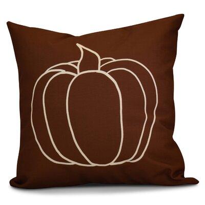 Miller Pumpkin Pie Geometric Throw Pillow Color: Brown, Size: 18 H x 18 W x 2 D