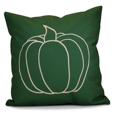 Miller Pumpkin Pie Geometric Throw Pillow Size: 18 H x 18 W x 2 D, Color: Green