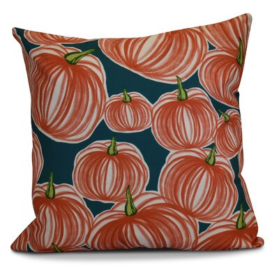Miller Pumpkins-A-Plenty Geometric Euro Pillow Color: Teal