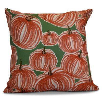 Miller Pumpkins-A-Plenty Geometric Euro Pillow Color: Green