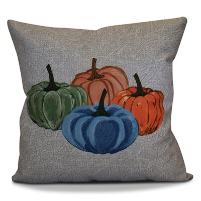 Miller Paper Mache Pumpkins Geometric Throw Pillow