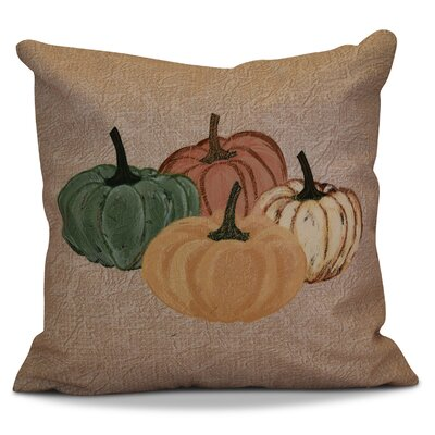 Miller Paper Mache Pumpkins Geometric Throw Pillow Size: 16 H x 16 W x 2 D, Color: Taupe