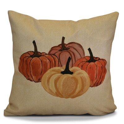 Miller Paper Mache Pumpkins Geometric Throw Pillow Size: 16