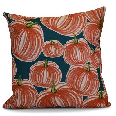 Miller Pumpkins-A-Plenty Geometric Throw Pillow Color: Teal, Size: 18