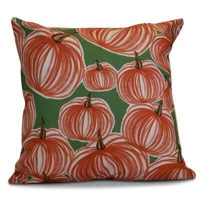 Miller Pumpkins-A-Plenty Geometric Throw Pillow Size: 16 H x 16 W x 2 D, Color: Green