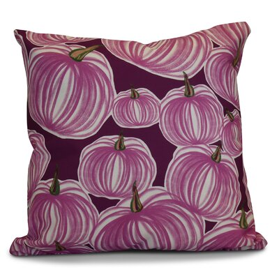 Miller Pumpkins-A-Plenty Geometric Throw Pillow Size: 20 H x 20 W x 2 D, Color: Purple