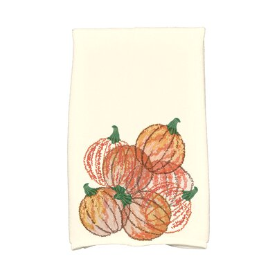 Miller Pumpkin Pile Holiday Print Hand Towel
