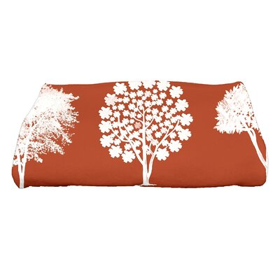 Field of Trees Floral Print Bath Towel Color: Light Rust