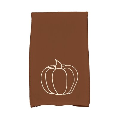 Miller Pumpkin Pie Holiday Print Hand Towel Color: Brown