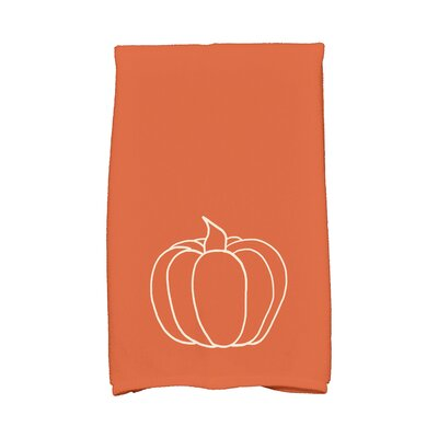 Miller Pumpkin Pie Holiday Print Hand Towel Color: Orange