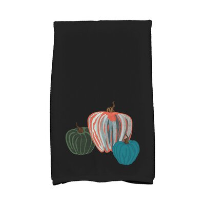 Miller Pumpkin Spice Holiday Print Hand Towel Color: Black