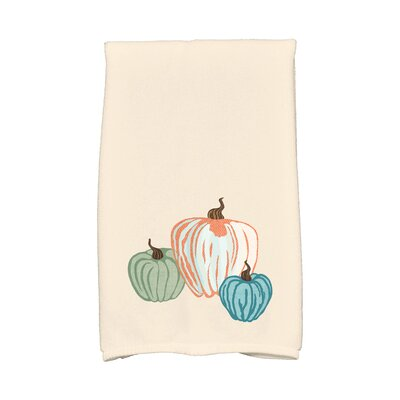Miller Pumpkin Spice Holiday Print Hand Towel Color: Cream
