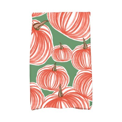 Miller Pumpkins-A-Plenty Holiday Print Hand Towel Color: Green