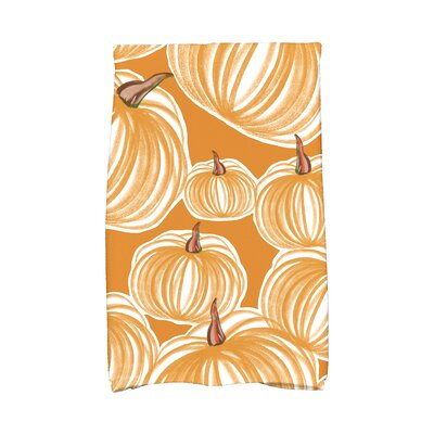 Miller Pumpkins-A-Plenty Holiday Print Hand Towel Color: Gold