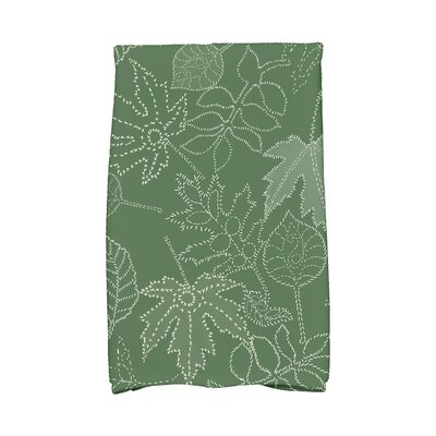 Miller Dotted Leaves Floral Print Hand Towel Color: Green