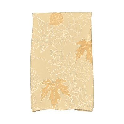 Miller Dotted Leaves Floral Print Hand Towel Color: Gold