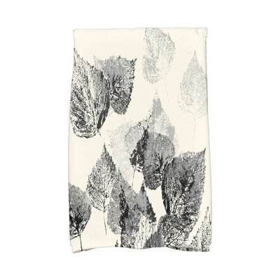 Miller Memories Floral Print Hand Towel Color: Black