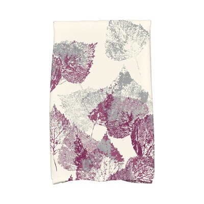 Miller Memories Floral Print Hand Towel Color: Purple