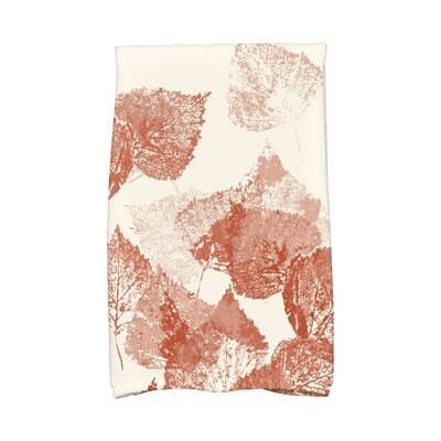 Miller Memories Floral Print Hand Towel Color: Rust