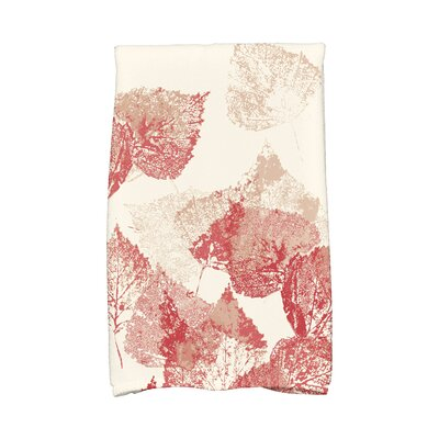 Miller Memories Floral Print Hand Towel Color: Red