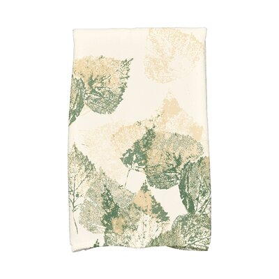 Miller Memories Floral Print Hand Towel Color: Green