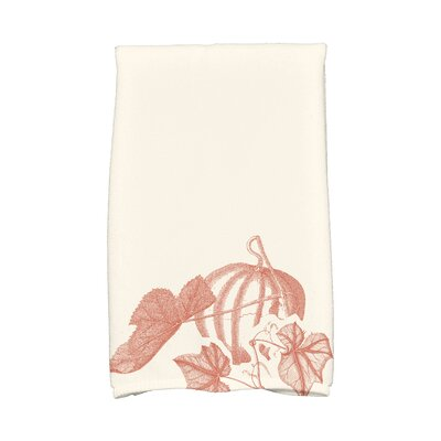 Miller Stagecoach Holiday Floral Print Hand Towel Color: Rust