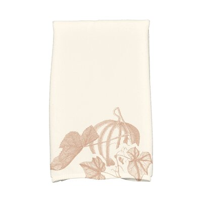 Miller Stagecoach Holiday Floral Print Hand Towel Color: Taupe