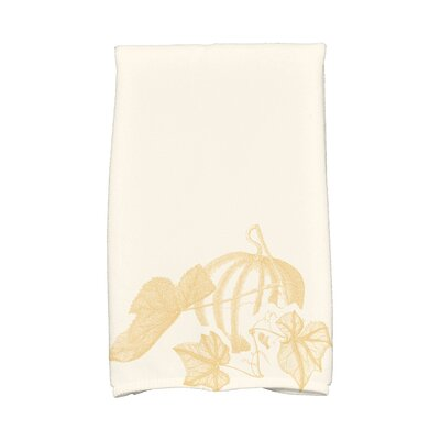 Miller Stagecoach Holiday Floral Print Hand Towel Color: Gold