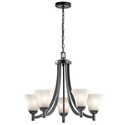 Huntington 5-Light Shaded Chandelier Finish: Black