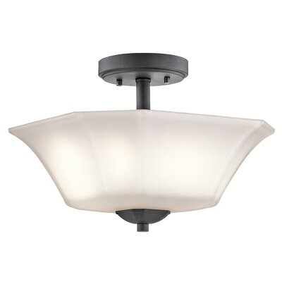 Huntington 2-Light Semi-Flush Mount Finish: Black