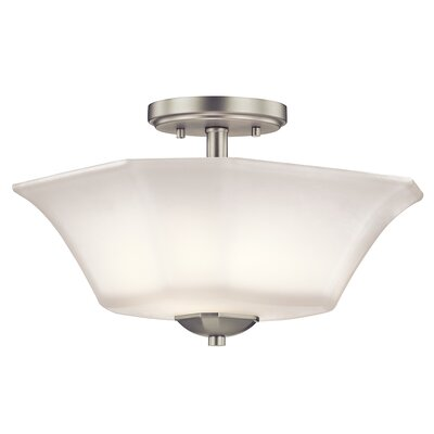 Huntington 2-Light Semi-Flush Mount Finish: Brushed Nickel