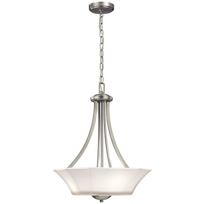 Huntington 3-Light Foyer Pendant Finish: Brushed Nickel