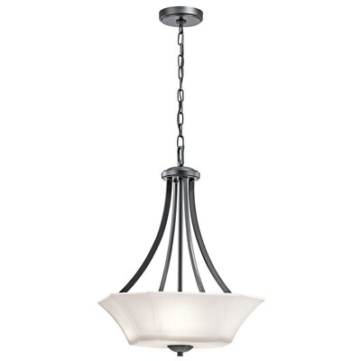 Huntington 3-Light Foyer Pendant Finish: Black