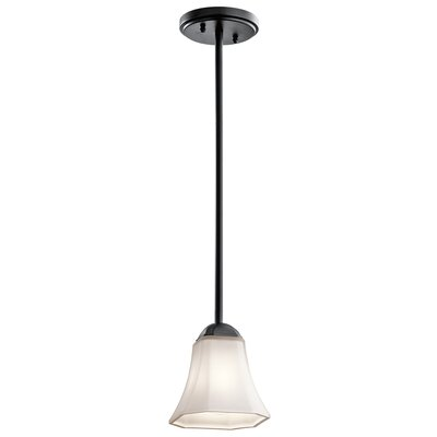 Huntington 1-Light Mini Pendant Finish: Black