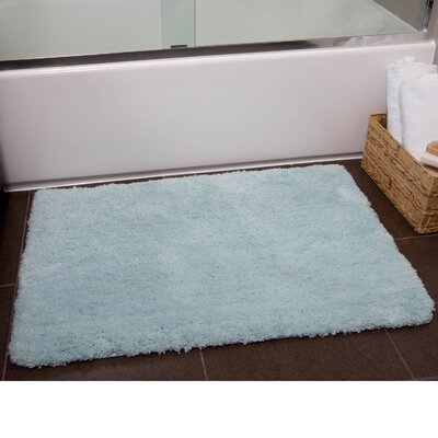 Ignatius Bath Mat Size: 21 x 34, Color: Light Blue