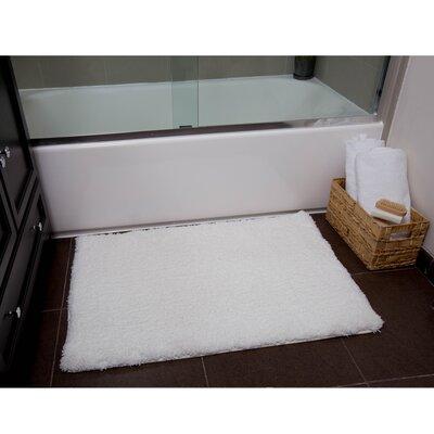 Ignatius Bath Mat Size: 21 x 34, Color: White