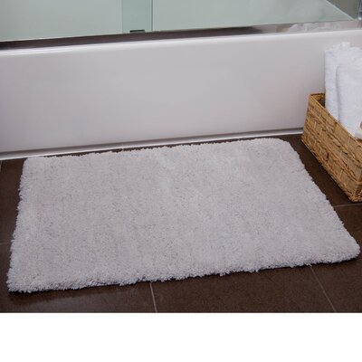 Ignatius Bath Mat Size: 21 x 34, Color: Smoke Blue