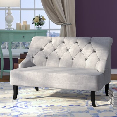 Goggans Settee Upholstery: Grey