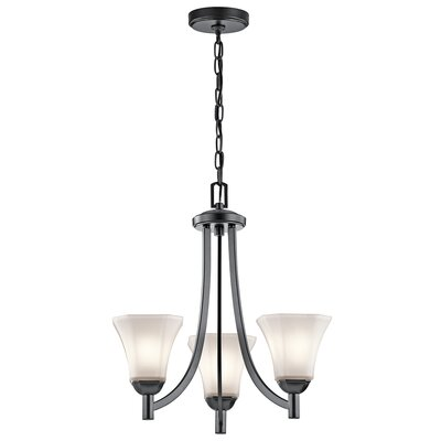 Huntington 3-Light Shaded Chandelier Finish: Black