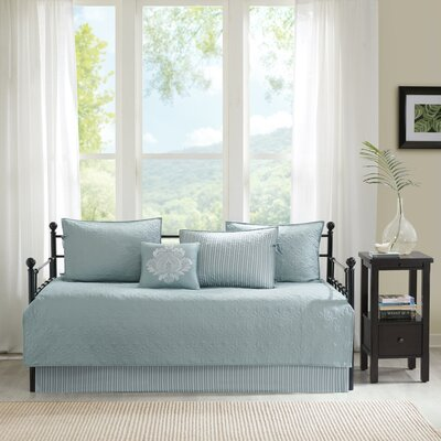 Hudson 6 Piece Daybed Set Color: Seafoam