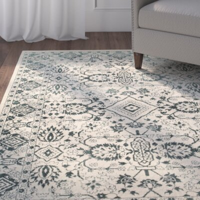 Ravenwood Green/Beige Area Rug Rug Size: Rectangle 53 x 76