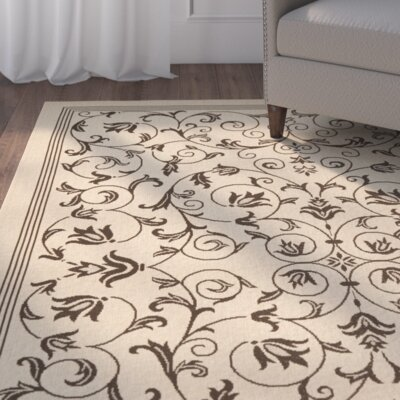 Rockbridge Natural/Chocolate Indoor/Outdoor Area Rug
