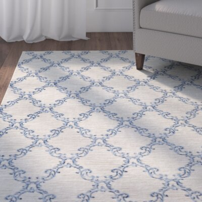 Gages Mirabel Sand/Blue Area Rug Rug Size: Rectangle 76 x 10