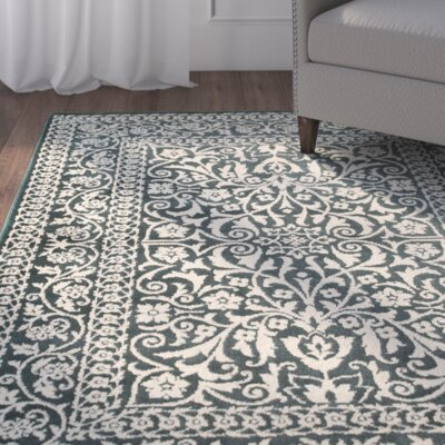 Ravenwood Green/Beige Area Rug Rug Size: Rectangle 910 x 1210