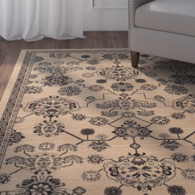 Douglassville Oriental Beige/Gray Area Rug Rug Size: Rectangle 710 x 109