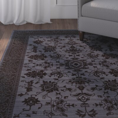 Douglassville Oriental Blue/Gray Area Rug Rug Size: Rectangle 52 x 76